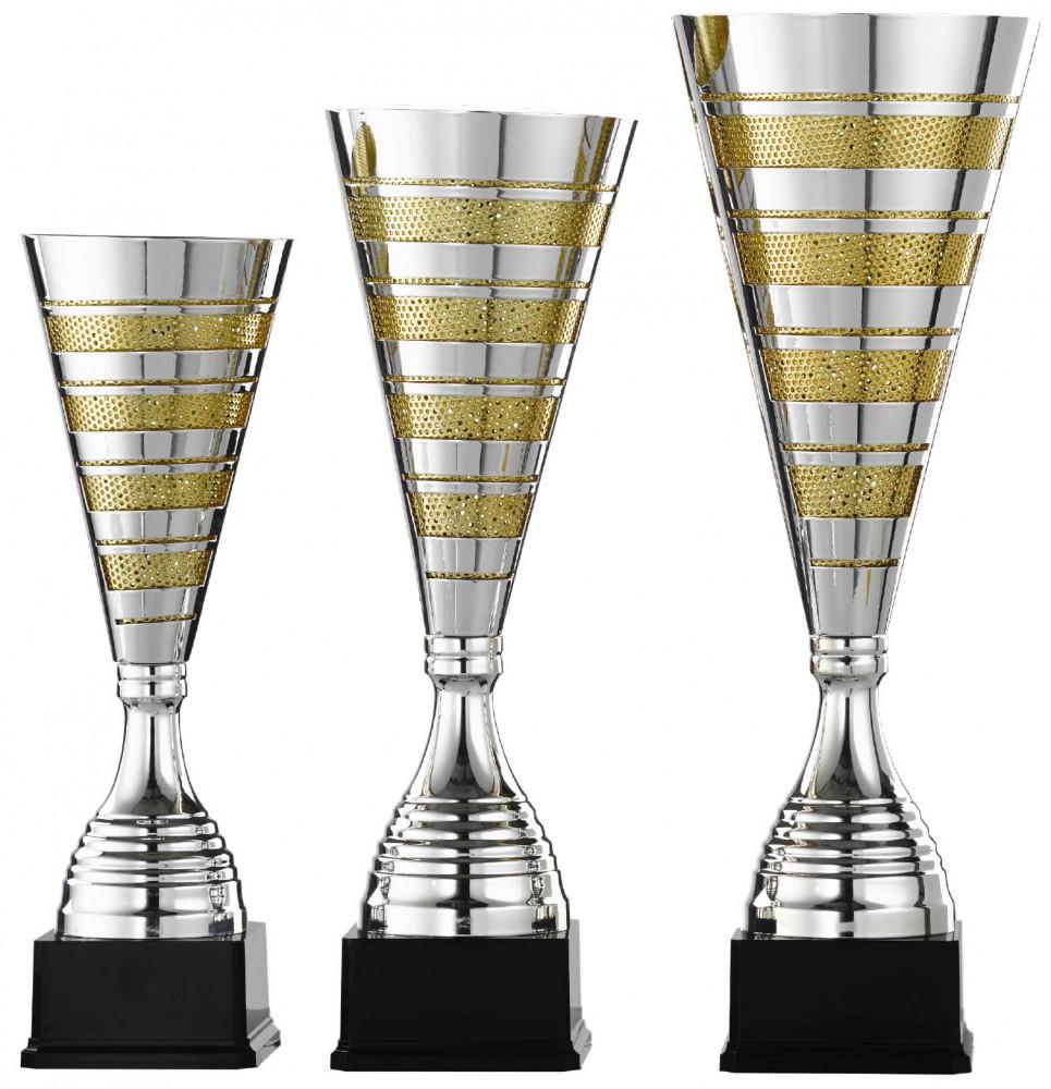 Pokale 3er Serie S967 silber/gold 51 cm