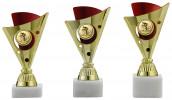 Pokale 3er Serie A1216 gold/rot 15 cm
