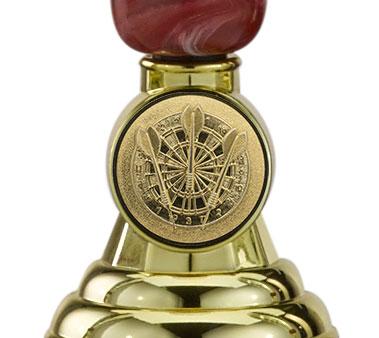 Pokale 3er Serie A304 gold/rot 34 cm