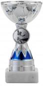 Pokale 3er Serie S1213 silber/blau 11 cm