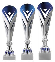 Pokale 3er Serie A318 silber/blau 28 cm