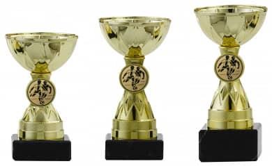 Pokale 3er Serie S1212 gold 11 cm
