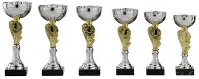 Pokale 6er Serie S155 silber-gold 19 cm