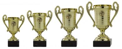 Pokale mit Henkel 4er Serie A305 gold 19 cm