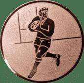 Emblem 50mm Footballer, bronze