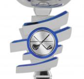 Pokale 6er Serie S434 silber/blau 20 cm