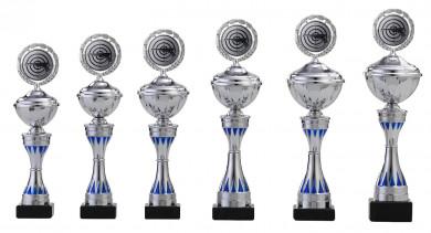 Pokale 6er Serie S157 silber-blau 31 cm