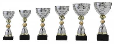 Pokale 6er Serie S495 silber/gold 19 cm