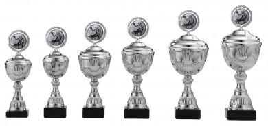 Pokale 6er Serie S497 silber mit Deckel 30 cm