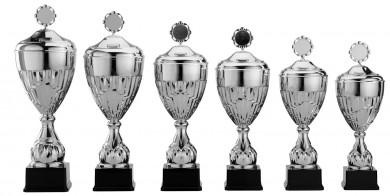 Pokale 6er Serie S920 silber mit Deckel 48 cm