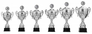 Pokale mit Henkel 6er Serie S922 silber mit Deckel 53 cm
