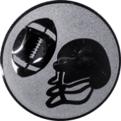 Emblem 50mm Football, silber