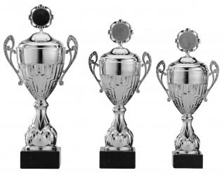 Pokale mit Henkel 3er Serie S758-3erB silber mit Deckel 42 cm