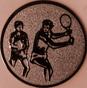 Emblem 25mm 2Tennisspieler, bronze