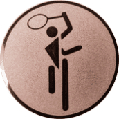 Emblem 25mm Tennis Symbol, bronze