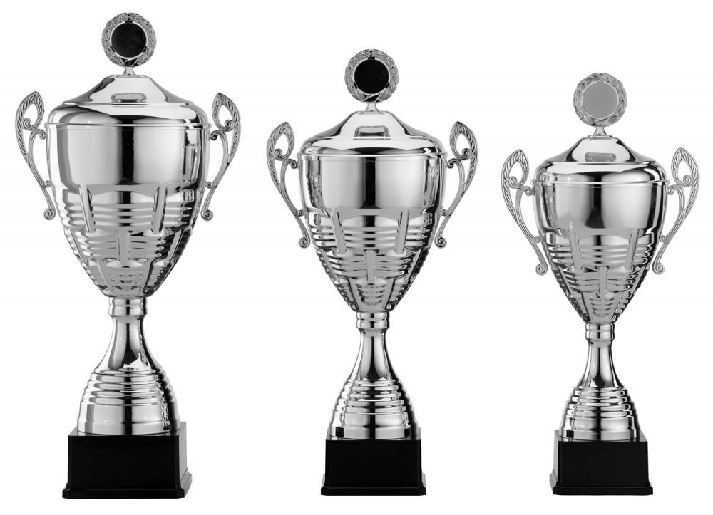 Pokale mit Henkel Serie S966 silber mit Deckel 61 cm