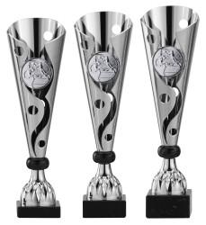 Pokale 3er Serie A302 silber/schwarz 35 cm