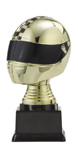 """Figurpokal """"Helm"""" PF353.1-M60 gold/schwarz 14,6cm"""