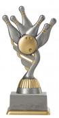Bowlingpokal PF211-M61 altsilber/gold 15,8cm