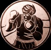 Emblem 25mm Boxer, bronze