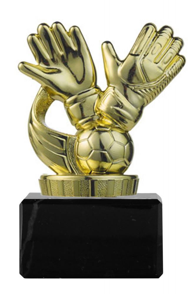 "Fußballpokal ""Handschuhe"" PF04 gold"
