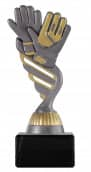 "Fußballpokal ""Handschuhe"" PF228 altsilber/gold"
