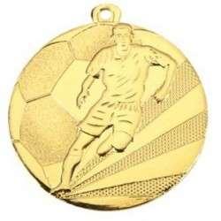 "Medaille ""Fußball"" Ø 50mm mit Band gold"