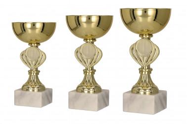 Pokale 3er Serie TRY9079 gold 15,5 cm