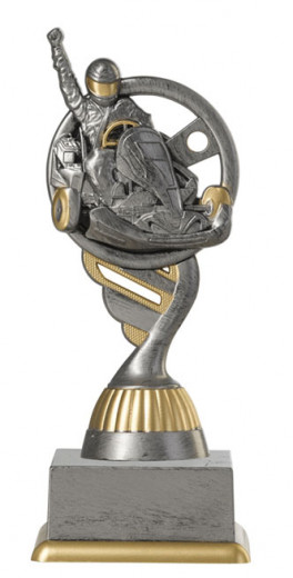 Kartpokal PF223-M61 altsilber/gold 15,8cm