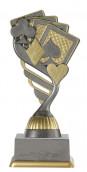 Pokerpokal PF238-M61 altsilber/gold 15,8 cm