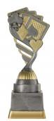 Pokerpokal PF238-M61 altsilber/gold 18,8 cm