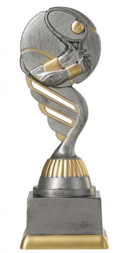 Tennispokal PF209-M61 altsilber/gold 17,3cm